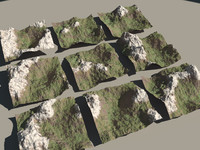3d obj mountains
