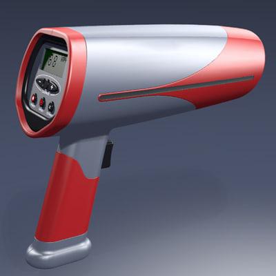3d model radar speed measuring