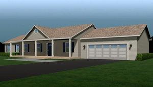 3d model of fully house