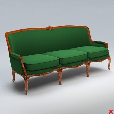 3d sofa old fashioned model