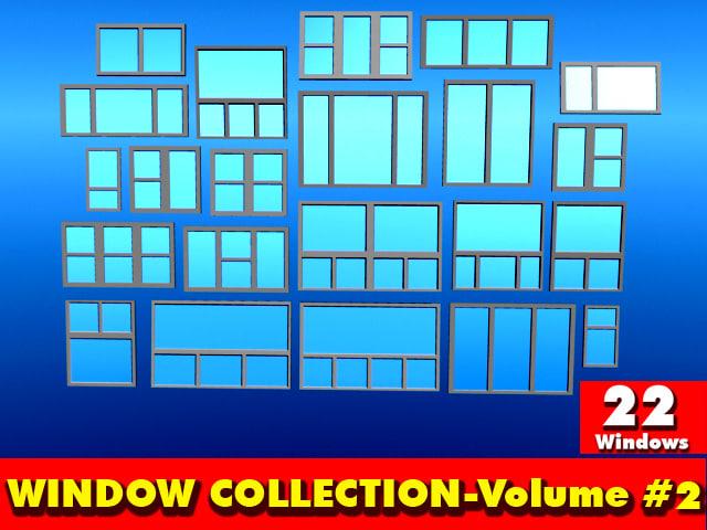 standard windows collection-volume 2- 3d obj