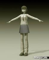 3d model manga girl suzuki