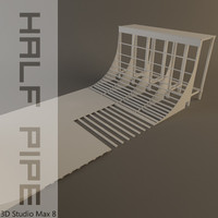 3ds max halfpipe skating quarter