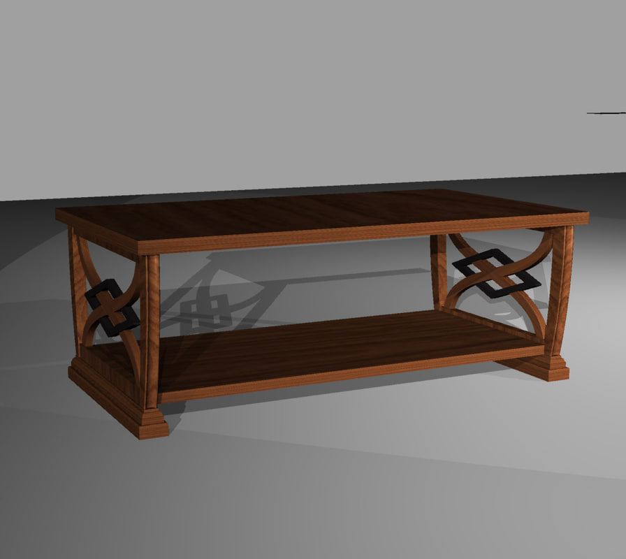 transitional table 3d model