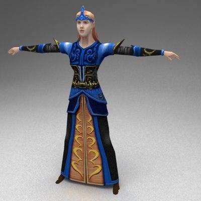3d fantasy priest