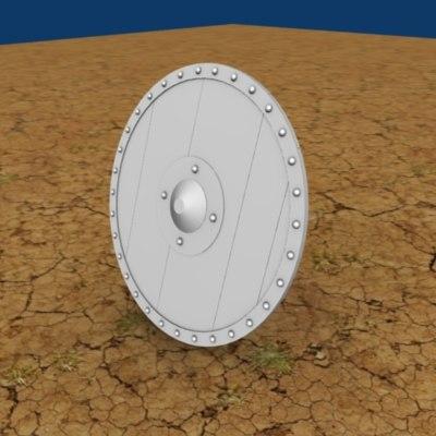 obj medieval shield