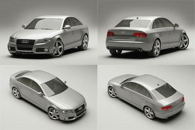 Car D Model - Audi car 3d