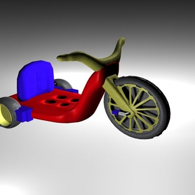 3d model big wheel