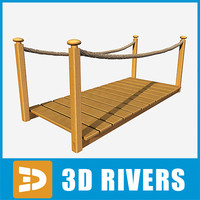 tropical wooden bridge 3ds