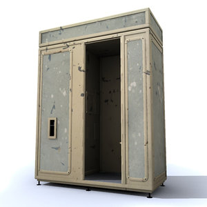 ruined booth photos 3d model