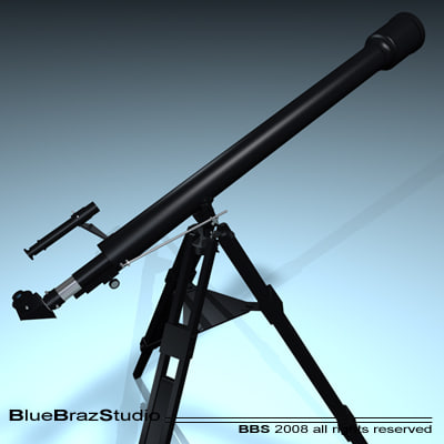 3d model celestron telescope