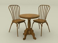 wooden chair and table set 2
