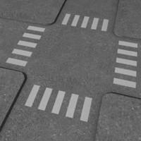 3d model crossroad road