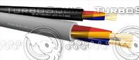 3d detaction cable li2yx 4x05mm2 model