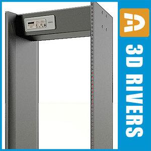 3d model airport metal detector