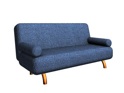 sofa golden legs 3d model