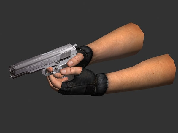 3ds hand animations pistol