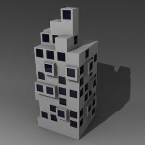 3d 3ds futuristic house