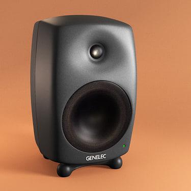 3d model genelec 8040a studio monitor