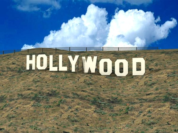 hollywood sign modelled landmark 3d model