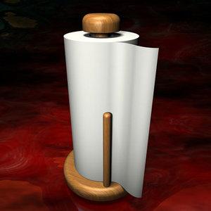 paper towel holder 3d 3ds