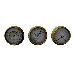 3ds max maritim clock set instruments