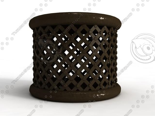 bamileke stool garden furniture 3d 3ds