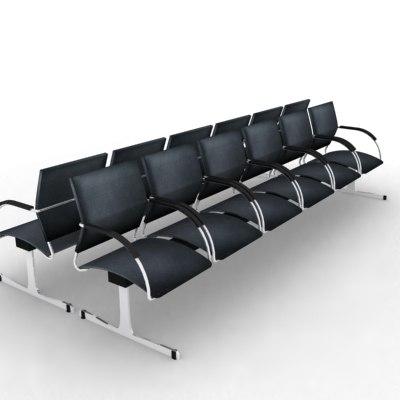 airport seating 3d model