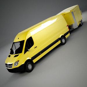 van trailer 3d model