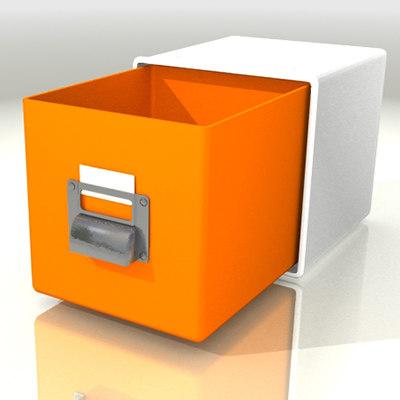 3d model cd filing case stackable