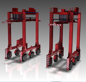 3d model straddle container carrier