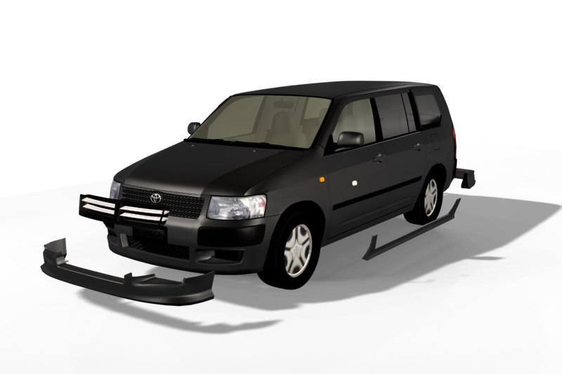 toyota succeed 3d model