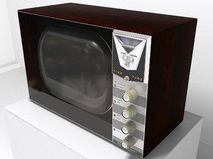 3ds max retro television