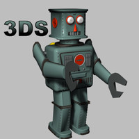 3ds max vintage tin robot