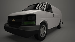white delivery van 3ds