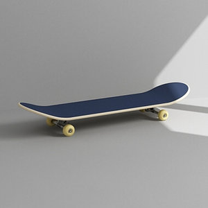 3dsmax skateboard