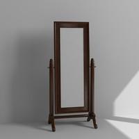 3d standing mirror model