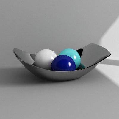 bowl balls 3d model