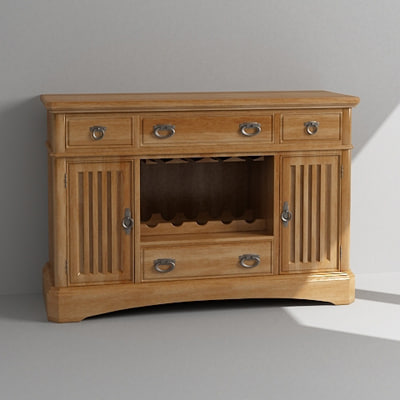 3d wine cabinet model