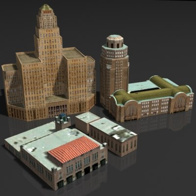 building station terminal 3d max