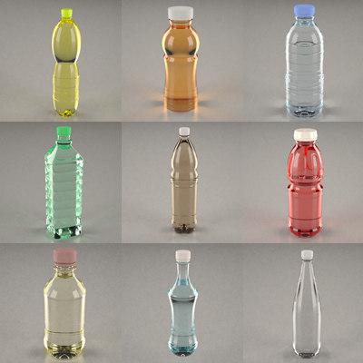 3ds max bottles pet