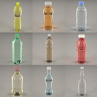 3ds max bottles pet