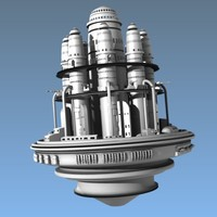 mother ship 3d model