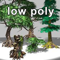 LowPoly Fantasy Trees