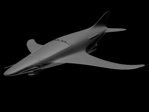 free parasite jet fighter 3d model