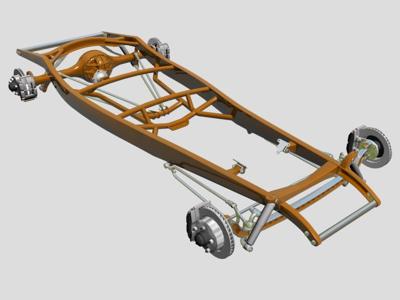 street rod frame suspension 3ds