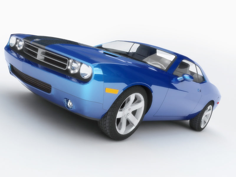 dodge challenger polygonal 3d model