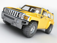 3D Hummer H3 Low Polygon