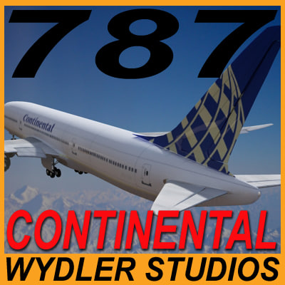 3ds max 787-3 continental