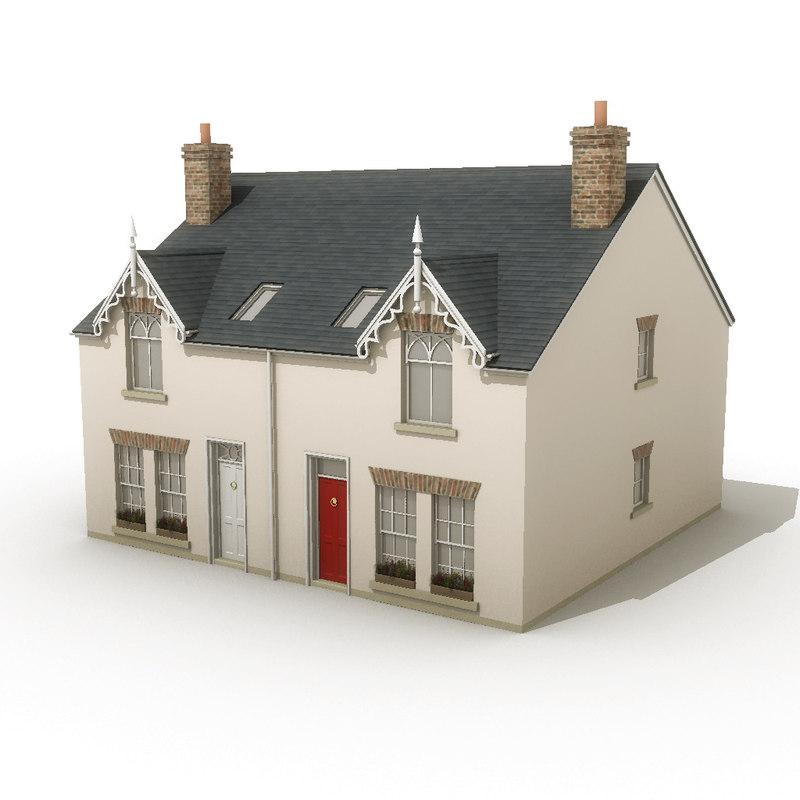 3d obj house